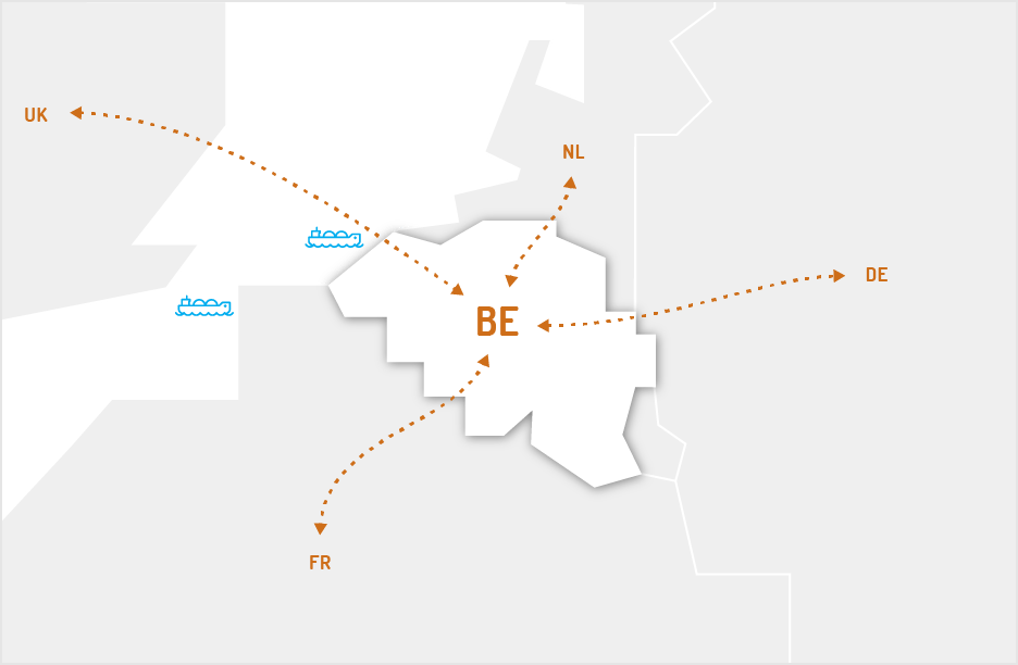 NBP marketzone connecting to the ZTP marketzone with access to the neighbouring markets